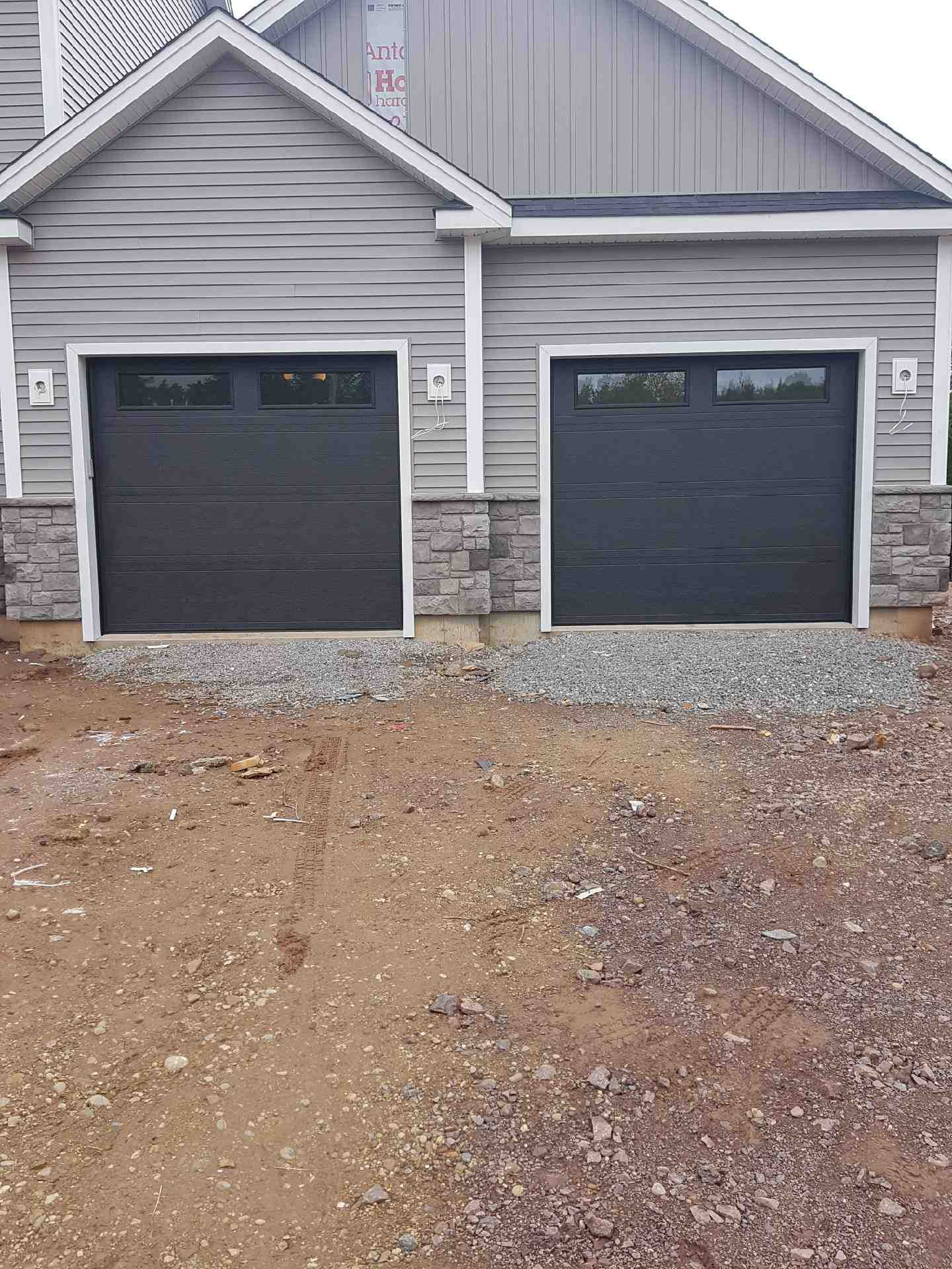commercial brown garage door