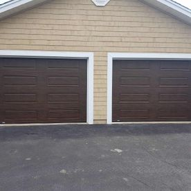 Garex premium commercial brown garage door